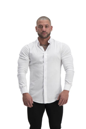 Muscle Fit Button Up White