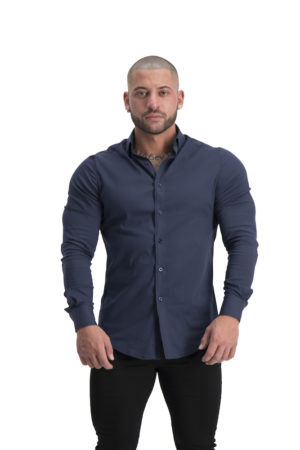 Muscle Fit button up Navy