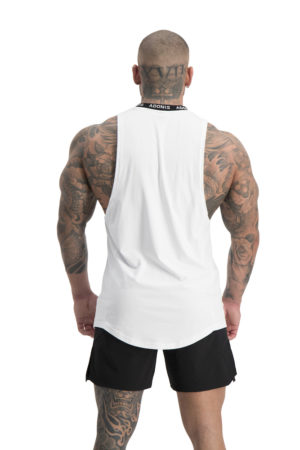 Pursuit White Tank Back