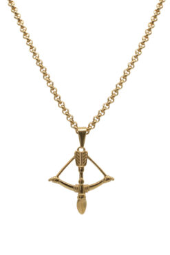 Adonis.Gear Bow & Arrow Pendant + Chain