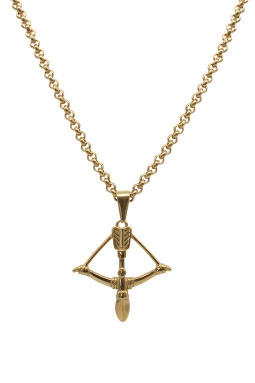 Adonis.Gear Bow & Arrow Pendant + Chain