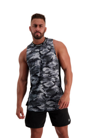 PURSUIT 2-0 Black_Grey Camo Tank Front