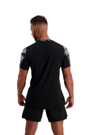 PURSUIT 2-0 Black_Grey Camo Tee Back