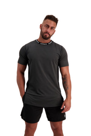 PURSUIT 2-0 Black_Grey Tee Front