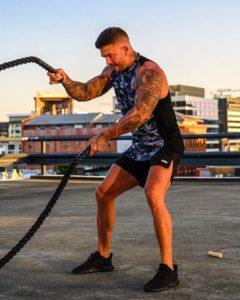 Adonis Gear Mens Activewear Pursuit 2.0 Black/Grey Camo Tank Top