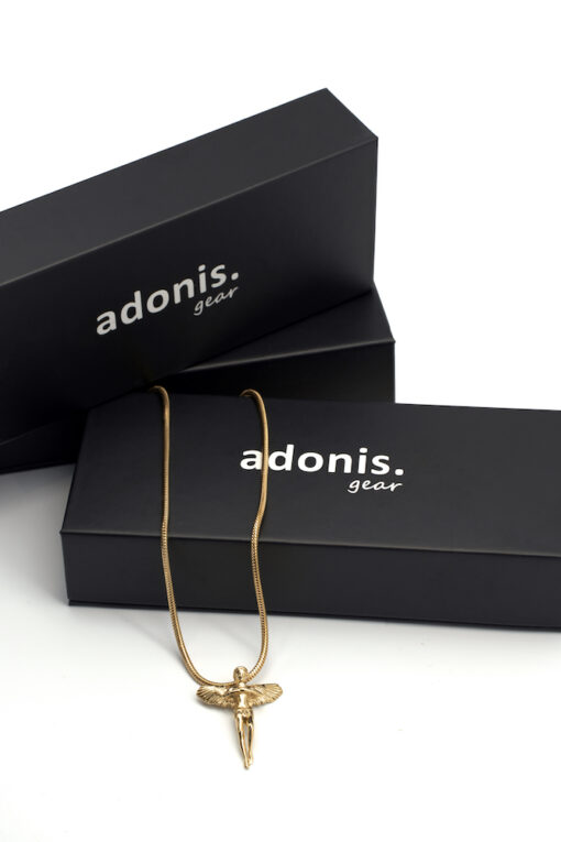 Adonis.Gear ANGEL (GOLD) Pendant + Chain Box Website