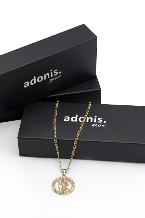 Adonis.Gear ST. CHRISTOPHER (GOLD) Pendant + Chain Box Website