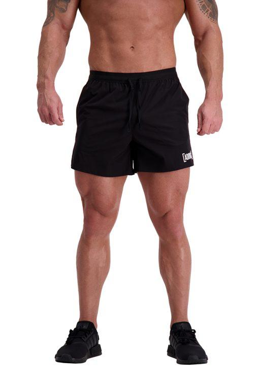 AG64 TRAINING (Black) 5″ Shorts Front