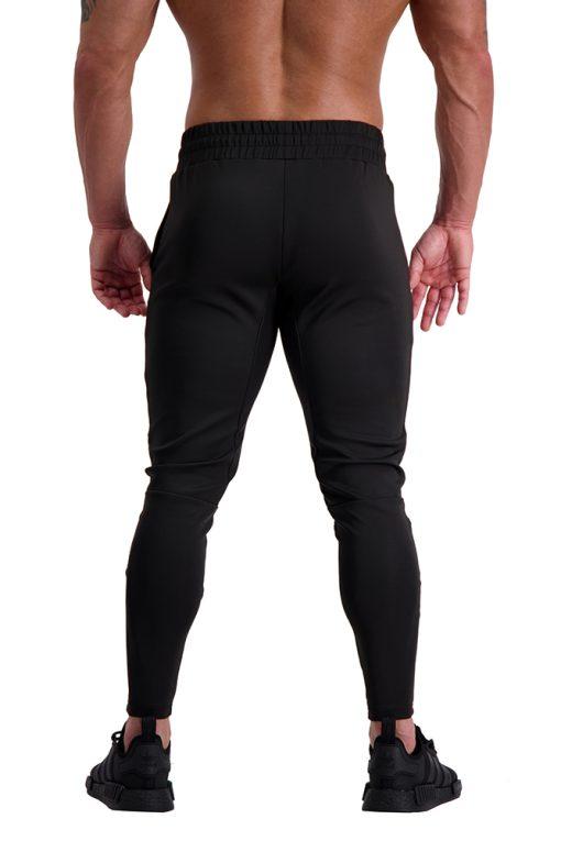 AG66 CLIMATE (Black_White) Track Pants Back