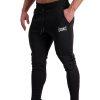 AG66 CLIMATE (Black_White) Track Pants Side