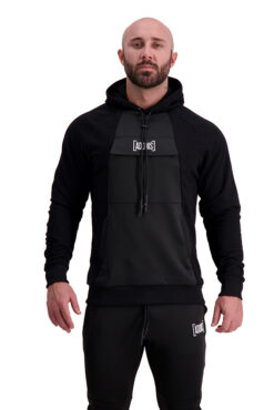 AG67 CLIMATE (Black_White) Hoodie Front
