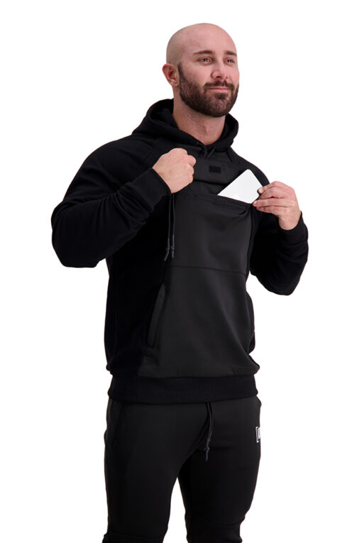 AG67 CLIMATE (Black_White) Hoodie Front Pocket