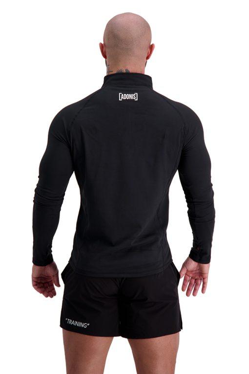 AG68 TRAINING (Black) 1_4 Zip Long Sleeve T-Shirt Back
