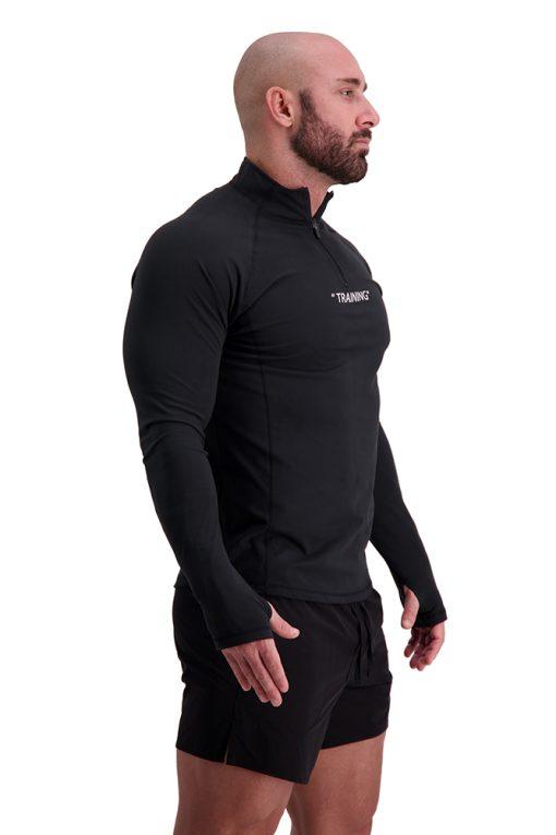 AG68 TRAINING (Black) 1_4 Zip Long Sleeve T-Shirt Back Finger Hole