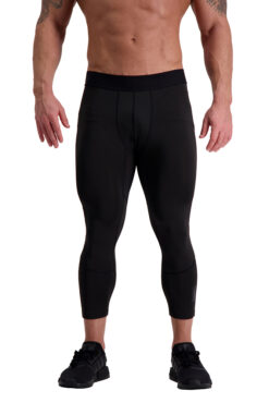 AG56 DEFINING (Black) 7_8 Training Tights Front