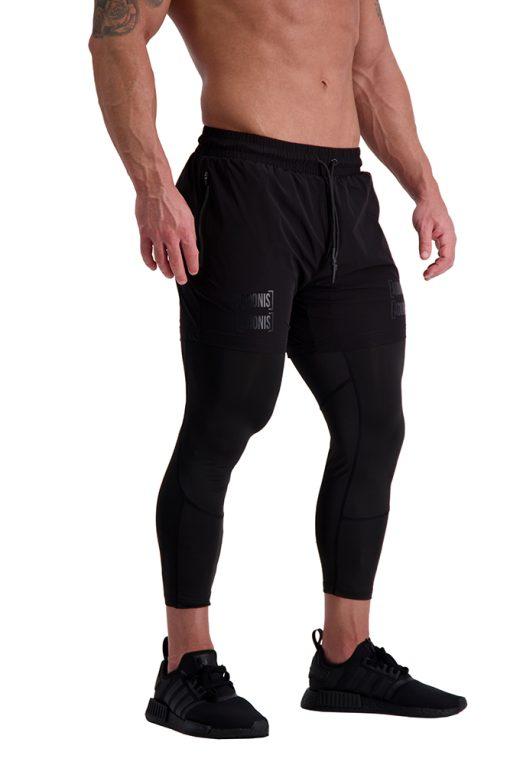 AG56 DEFINING (Black) 7_8 Training Tights Side Shorts